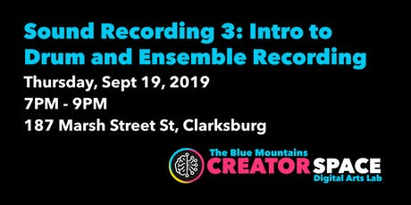 Sound Recording: Intro to Drum and Ensemble Recording tickets