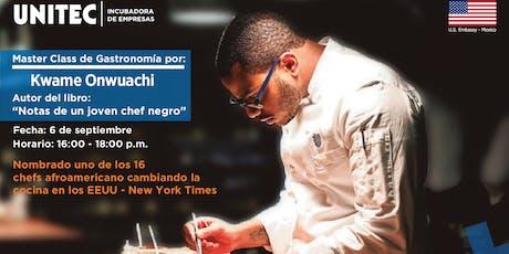 Master Class con el chef Kwame Onwuachi tickets