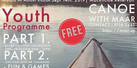Kanoe with MAAR Youth @ MacRitchie tickets