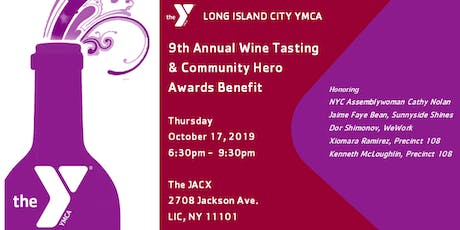9th Annual LIC YMCA Wine Tasting & Community Hero Awards Benefit tickets