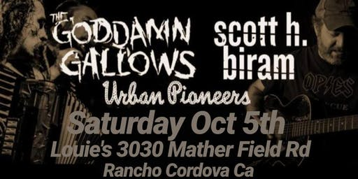The Goddamn Gallows, Scott Biram, & Urban Pioneers Party w the poor boys CC