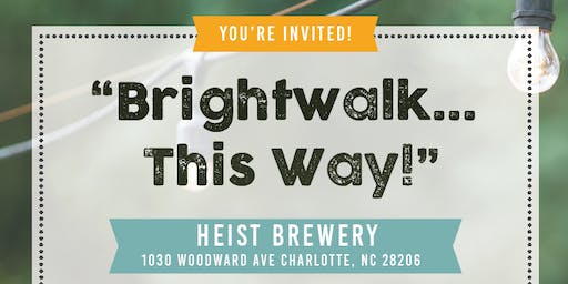 Brightwalk...this way!  Drinks and Donation Drive at Heist Barrel Arts!