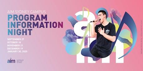 AIM Sydney Information Evening | 27 September 2019 tickets