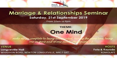 One Mind - Marriage & Relationship Seminar