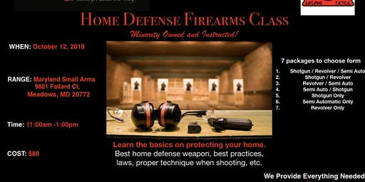 Home Defense Firearms Class