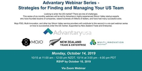 Advantary Webinar Series - Strategies for Finding and Managing Your US Team tickets