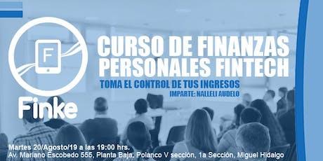 Curso Finanzas Personales Fintech boletos