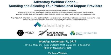 Advantary Webinar Series - Sourcing and Selecting Your Service Providers tickets