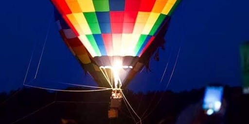 Hot Air Balloon Tether Rides at The Blueberry Festival  Night 1