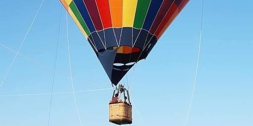 Hot Air Balloon Tether Rides at The Blueberry Festival  Night 2