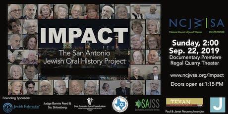 Impact: The San Antonio Jewish Oral History Project - Sep 22 tickets