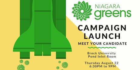 Niagara Greens Federal Campaign Launch tickets