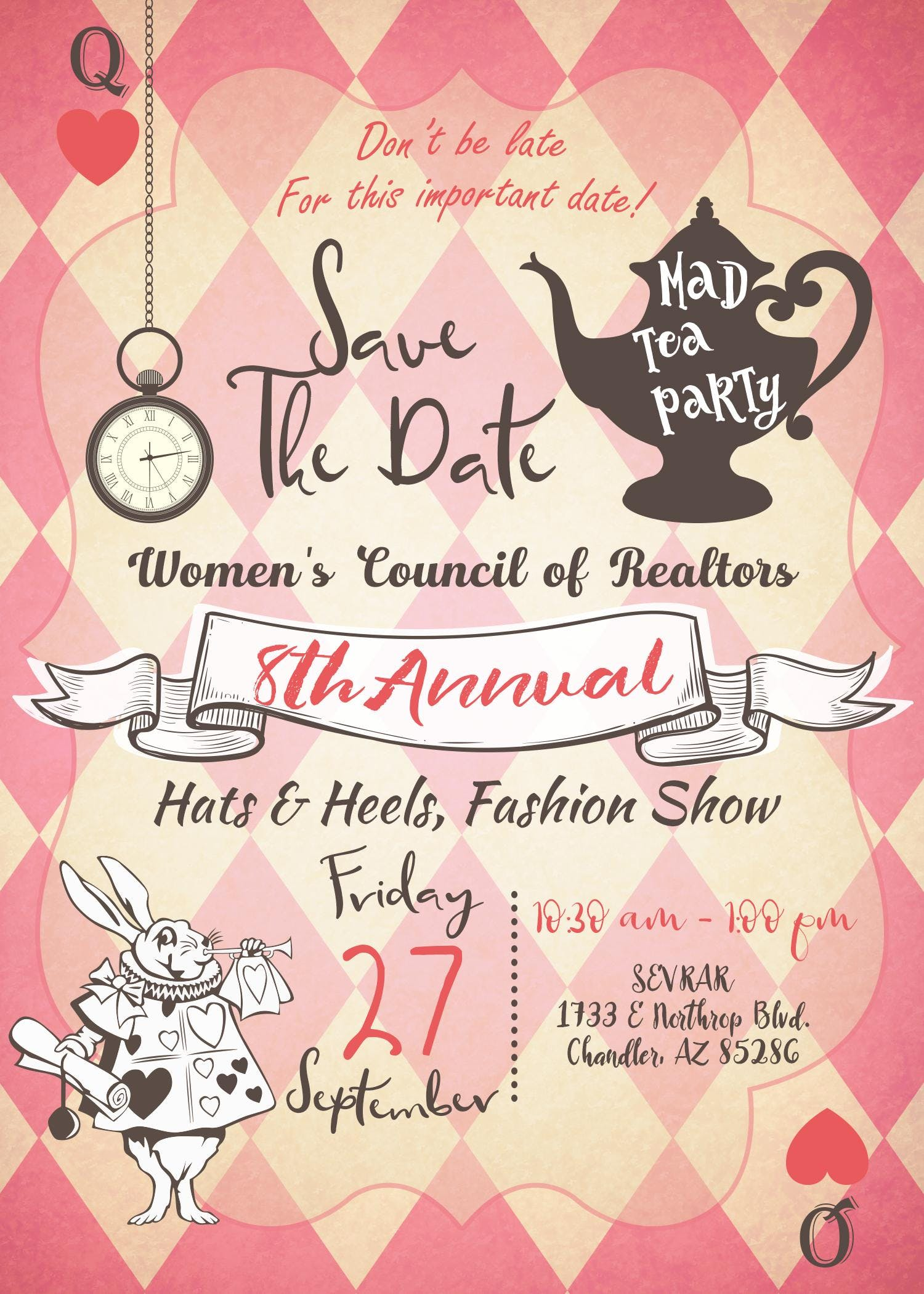 Mad Hatter's Tea and Hats and Heels Fashion show