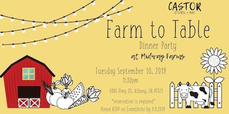 Farm to Table Summer Dinner tickets