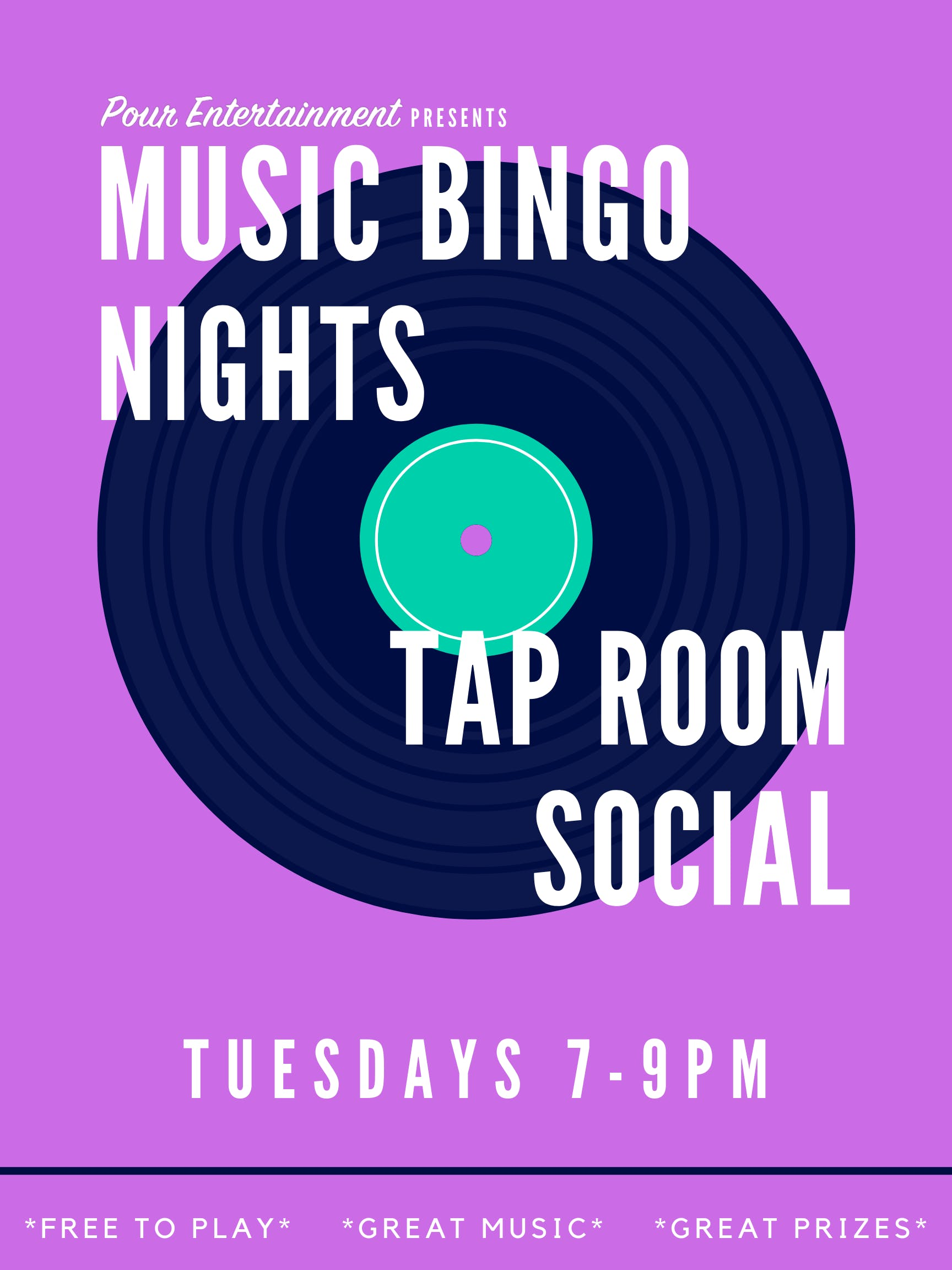 MUSIC BINGO! at TAPROOM SOCIAL