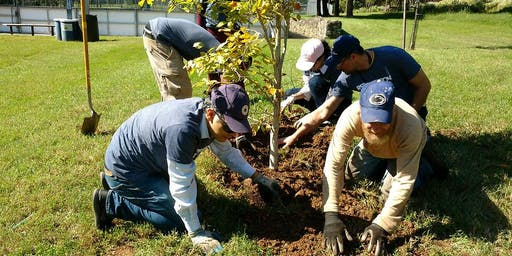 Plant A Tree Day at Woodford Mansion Orchard, Philadelphia