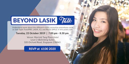 Beyond LASIK Talk (Tue, 22 Oct 2019)