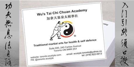 Tai Chi Chuan - complimentary beginners' class tickets