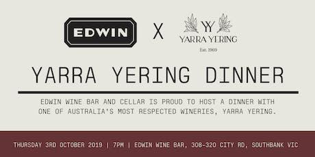 Yarra Yering Wine Dinner Hosted By Edwin Wine Bar tickets