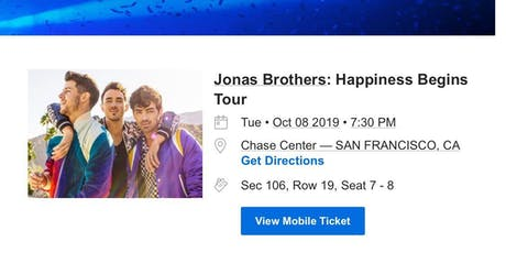 Jonas Brothers 2019 Happiness Begins Tour  tickets