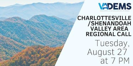 DLOV Charlottesville / Shenandoah Valley Area Regional Call tickets