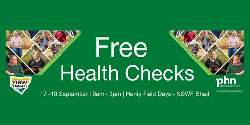 NSW Farmers & Murrumbidgee PHN Free Health Checks