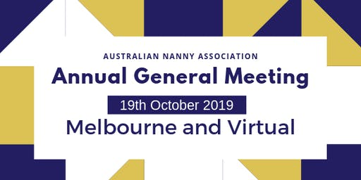 Annual General Meeting, 2019 - Australian Nanny Association