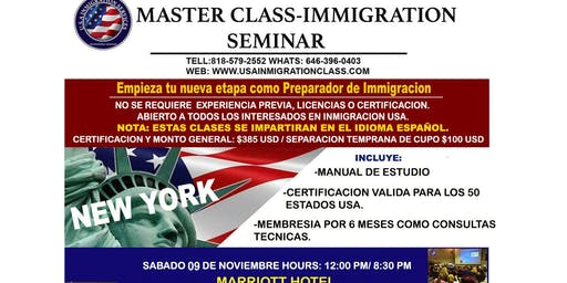 NEXT MASTER CLASS  - INMIGRATION SEMINAR