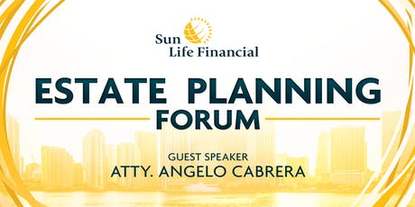 Estate Planning Forum with Atty Angelo Cabrera tickets