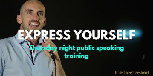 Public speaking training - get confident now!