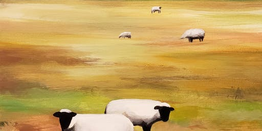 Grazing Sheep Painting Party at Brush & Cork