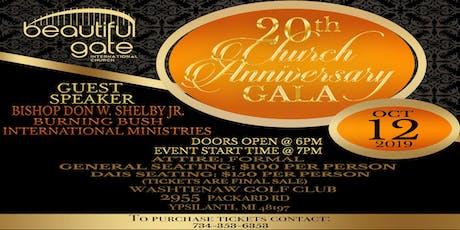 Beautiful Gate Int'l Church 20th Church Anniversary Gala  tickets