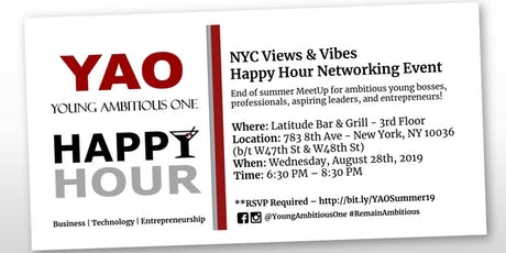Young Ambitious One - Summer 19' Views & Vibes NYC Networking Mixer! tickets