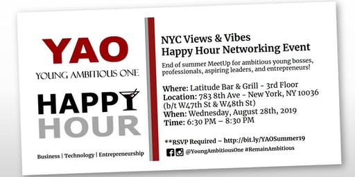 Young Ambitious One - NYC Views & Vibes Summer 19' Networking Mixer!
