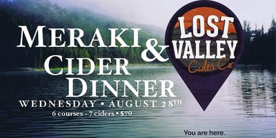 Cider Dinner with Lost Valley Cider Co.