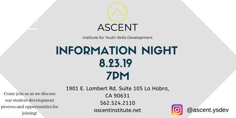 ASCENT Information Night tickets