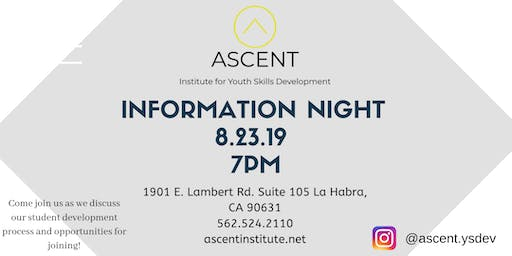 ASCENT Information Night