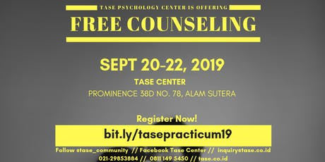 Free Psychology Counseling Sept 20-22, 2019 tickets