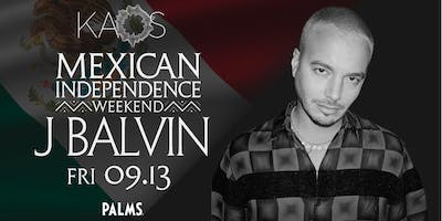 9.13 J Balvin Mexican Independence Weekend Party @ KAOS Nightclub Las Vegas