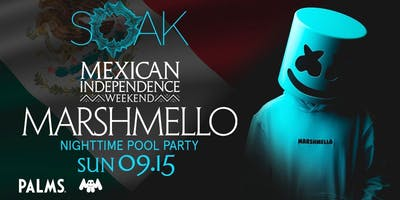 9.15 Marshmello SOAK Sunday Nightswim Party @ KAOS Nightclub Las Vegas