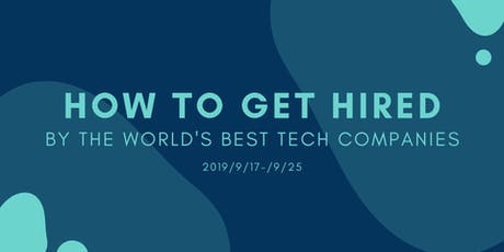 How to get hired by best tech companies in Silicon Valley tickets