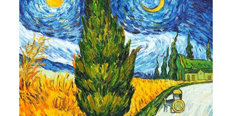 'Road with Cypress and Star' Sip & Paint Workshop tickets
