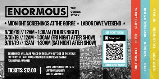 Enormous: The Gorge Story @ THE GORGE