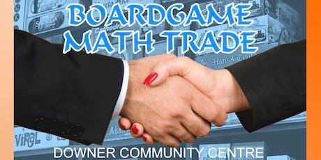 Meepleman: Boardgame Math Trade tickets