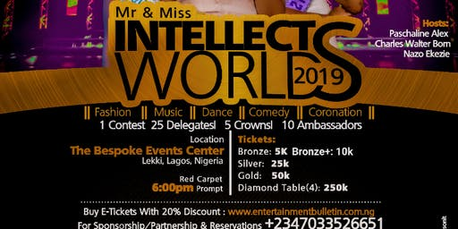 Mr and Miss Intellects World |The Intellects Awards 2019