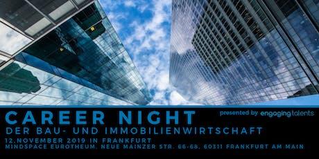 CAREER NIGHT der Bau- und Immobilienwirtschaft in Frankfurt tickets