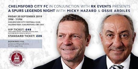 An Evening with Spurs Legends Ossie Ardiles & Micky Hazard tickets