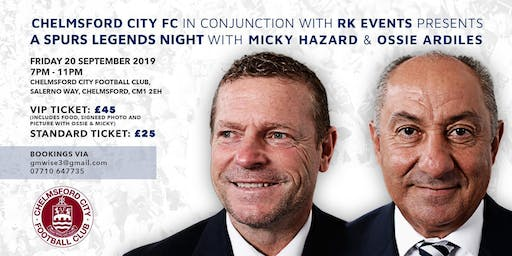 An Evening with Spurs Legends Ossie Ardiles & Micky Hazard