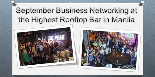 September Business Networking at the Highest Rooftop Bar in Manila