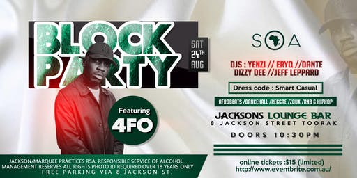 SOA BLOCK PARTY FEATURING 4FO